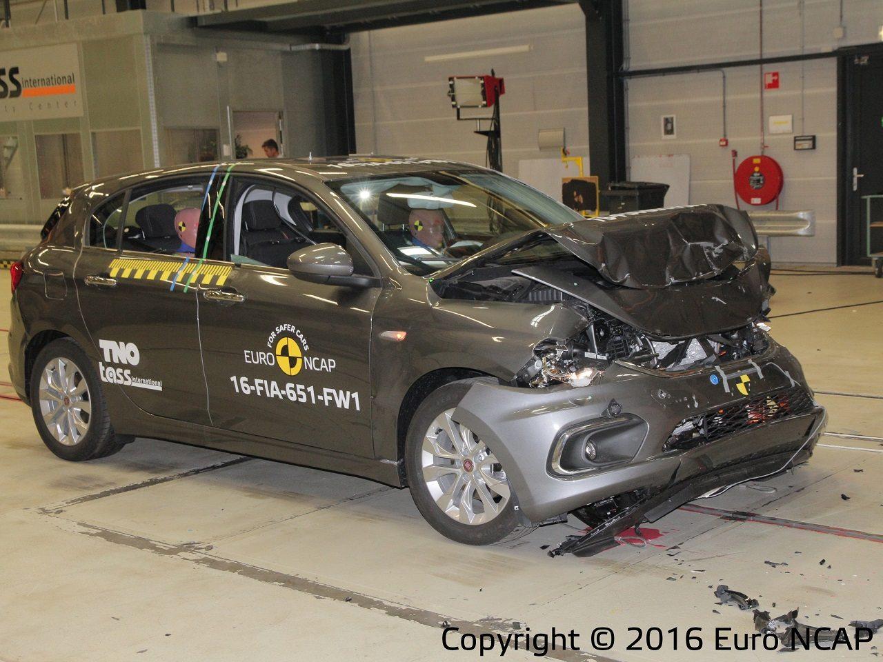 פיאט טיפו 2016 מבחן ריסוק EuroNCAP - 0055