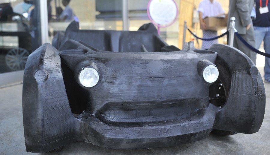 אקומושן 2015 כלי רכב שהודפס במדפסת תלת-מימד