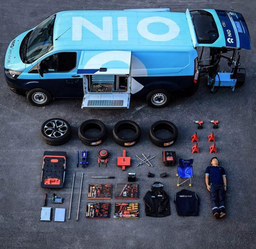NIO הסינית מביאה את המוסך עד ללקוחות שלה
