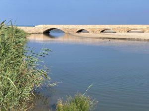 אל הגשר המחודש שעל הנחל הכחול
